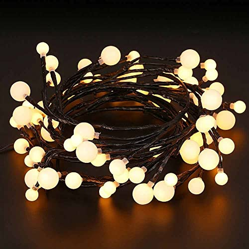 AUA Globe String Light, Ball Fairy Light, 8.2ft 72 LED Waterproof Starry  Light - Round Christmas Tree Lights: Amazon.com