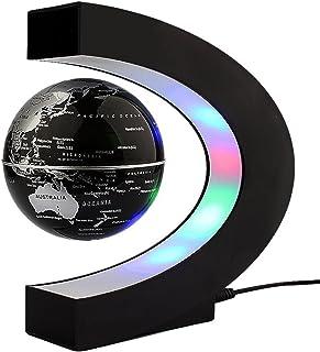 Levitación Magnética Globo Flotante Mapa C- forma LED flotating globe mundia Regalo Decoración