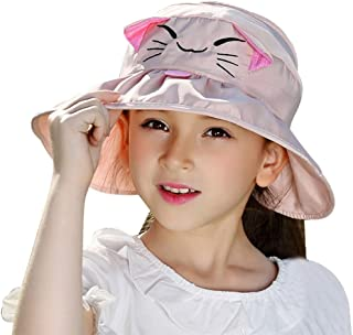 f7280a37ef9 Bienvenu Kids Girls Wide Brim Visor Sun Hat - UV Protection Foldable Beach  Cap