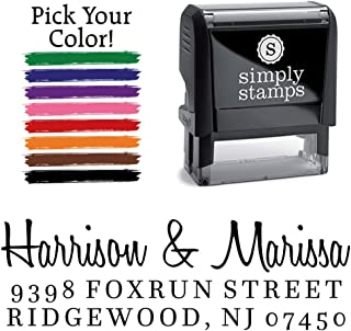 Custom Return Address Stamp, Harrison Personalized Self-Inking Address Stamp