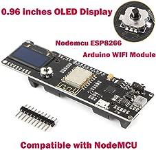 Aokin Nodemcu ESP8266 Development Board WiFi Kit,Arduino WiFi Module, with 0.96inch OLED Display Arduino 18650 5-12V 500mA Battery Slot Compatible with NodeMCU, for Arduino ESP8266 NodeMCU