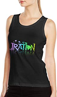 Woman's Iration Fashion Summer Music Band Fans Sleeveless Top Tee