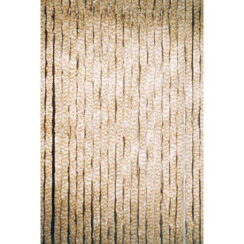 Türvorhang Flauschvorhang Sichtschutz Vorhang beige 90 x 200 cm