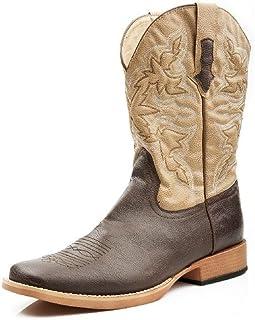 حذاء رعاة البقر رجالي من Roper بمقدمة مربعة ، بني ، 11 D - متوسط