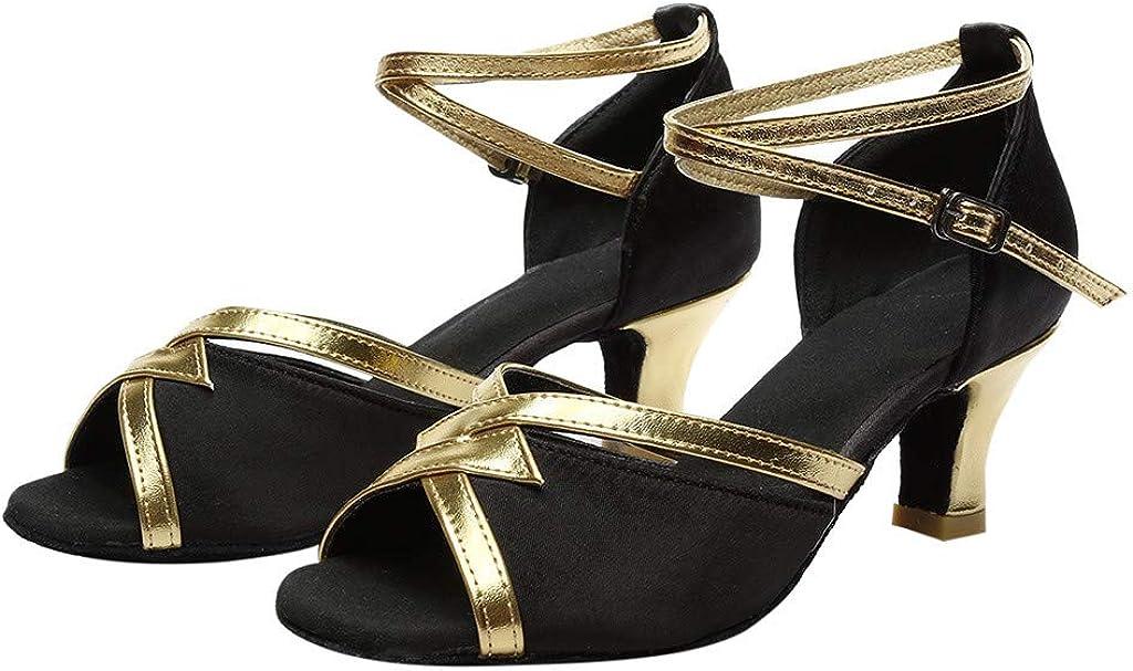 Memela Women Tango Ballroom Latin Salsa Waltz Dance Girl Party Formal Shoes Brillante Glitter Heeled