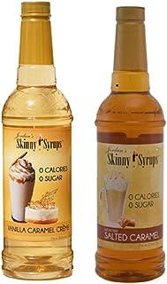 Jordan's Skinny Gourmet Syrups Vanilla Caramel Creme and Salted Caramel 25.4 Fluid Ounce (Bundle of 2)