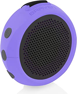 Braven B105PGG Wireless Portable Bluetooth Speaker With Action Mount, Purple