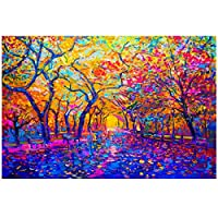 Colorful Tree of Life Abstract Painting on Canvas Scandinavian Posters and Prints Modern Wall Art Picture for Living Room 70x90cm No Frame