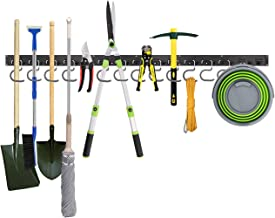 Housolution Système de Rangement Réglable 48 Pouces, Supports Muraux pour Outils 3 Packs 12 Crochets Organiseur de Garage ...