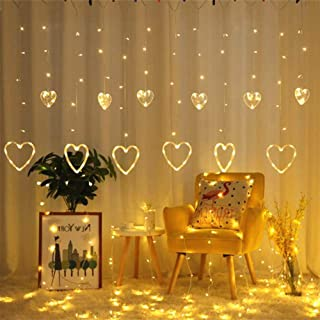 Y YUEGANG Light Factory Heart Shaped Led Fairy String Lights Warm White Waterproof Decorative String Lights Perfect for Indoor and Outdoor Decor Plug in String Lights with 29V Low Voltage Transformer