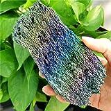 NBKLSD Roca Natural Siete Color MINERALES DE MINEROS RAISCO DE Cuarzo DE CUTIMIENTO DE CURBOLUCIDOS DE CURBOLUCIDO para LA DECORACIÓN del HOGAR (Size : About 350g)