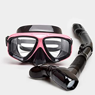 XY Swimming Goggles - Snorkeling Sambo Equipment Adult Goggles Full Dry Snorkel Set Swimming mask Water Sports Glasses (Color : B)