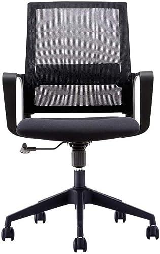 LEOO Chaise de bureau moderne, chaise de bureau à la maison avec bras et hauteur réglable, adaptée au travail sur ordinateur, lieu de réunion et de réception (Couleur   Noir, taille   104  64cm)