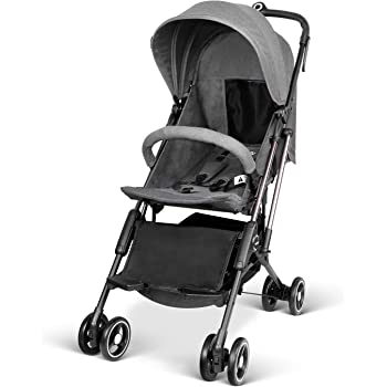 besrey Airplane Stroller One Step Design for Opening & Folding Lightweight Baby Stroller for Infant Convertible Baby Carriage