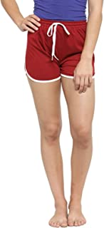 BC Boston Club Women Maroon Solid Lounge Shorts