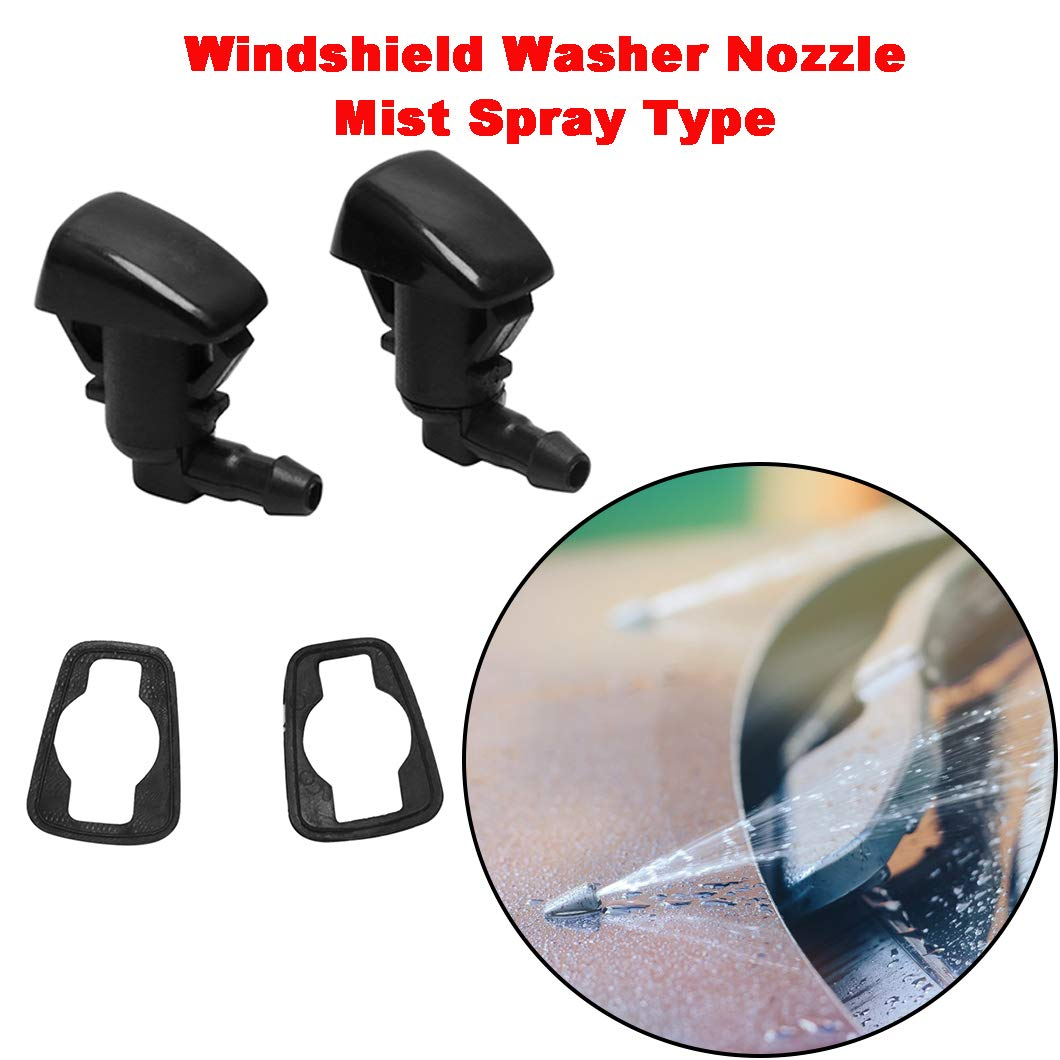 ZHParty Windshield Washer Fluid Jet Nozzles /& Rubber Tube Hose Kit for 2011 18 FORD F-250 F-350 F-450 F-550 Super Duty Replaces OEM # BC3Z-17K605-B /& BC3Z-17603-A