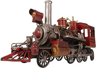FACAI Modelo de Locomotora Retro Modelo de Coche de Hierro Modelo de Tren de Metal Extra Grande Adornos de Tren Antiguo