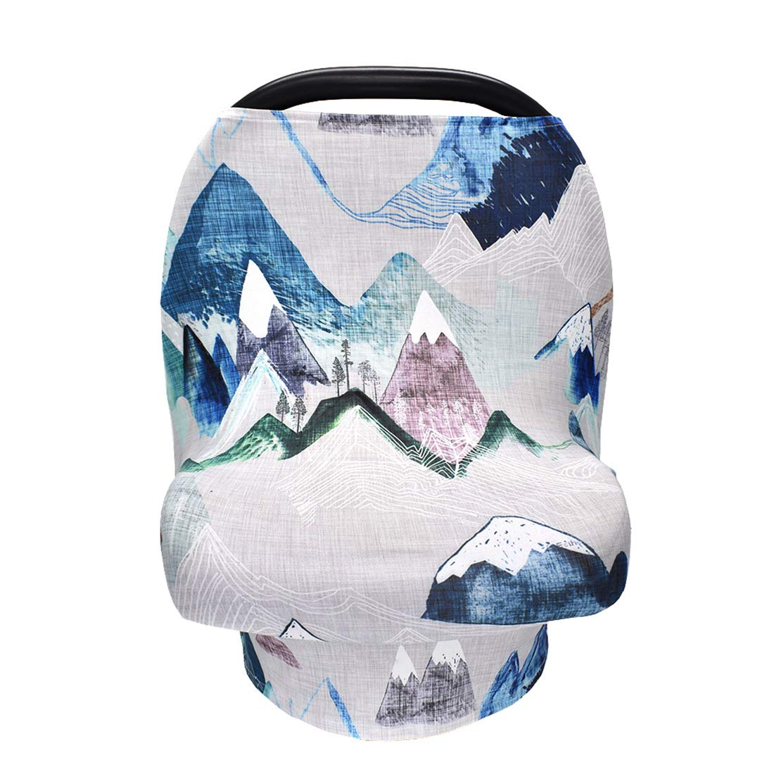 Giggle Angel Stroller Cover Privacy Nursing Cover Baby Carseat Canopy High Chair Cover Nursery Cover Breastfeeding Scarf for Boys and Girls (Blue)