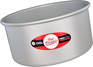 Fat Daddio's Anodized Aluminum Round Cake Pan, 8-Inch x 4-Inch by Fat Daddios