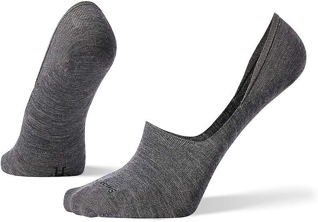 Smartwool Men's No Show Ultra Light Merino Wool Socks, Medium Gray, Large