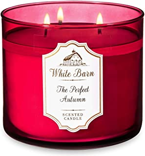 Bath and Body Works The Perfect Autumn - White Barn Large 14.5 Ounce 3-Wick Candle - Cranberry, Pumpkin, Apple, and Clove...