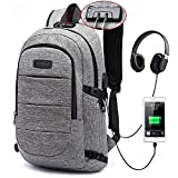 Laptop Backpack for Men & Women,Anti Theft Waterproof School Bookbag with USB Charging Port for College Student,Travel...