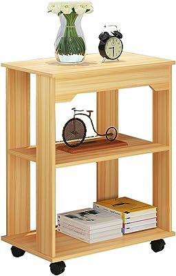 Amazon.com: Mesa auxiliar de tres capas para salón, sofá ...