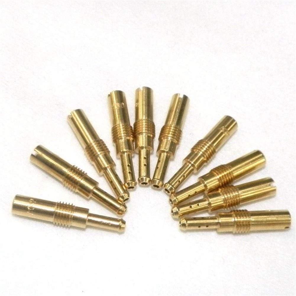 Color : Gold RuiPingRuiLaias Durable 10pcs Carburateur Gicleur M5 Lente de ralenti Jet M5x0.8mm Fil 58 60 62 55 65 68 70 72 75 78 for KEIHIN PZ19 Carb Buse dinjecteur Jet Principal de carburateur