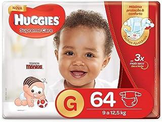 Fralda Huggies Supreme Care Hiper G, 64 Fraldas