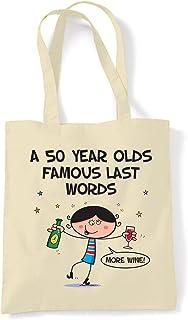 Chocolate /& Gin Make Me Grin 75th Birthday Tote Shopping Bag
