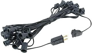 Novelty Lights 25 Foot C7 Outdoor String Light Christmas Stringer - Patio String Lights - Candelabra Base (C7/E12) - 12