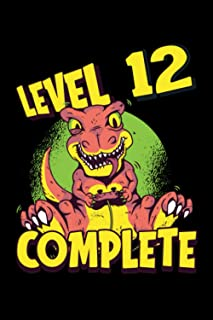 Level 12 Complete: Gaming Lined Notebook incl. Table of Contents on 120 Pages   Gaming Gamers Journal   Gift Idea for Game...
