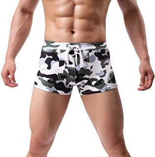 HaiDean Men's Swimwear Boxer Men Casual Trunks Modern Swim Print Boxer Shorts Under Warm Shoe Soft Boardshorts Men Ninner ...