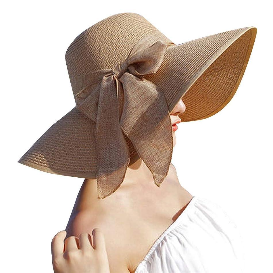 避難する害虫頼む日除け帽子 ハット レディース ビッグバイザー 日よけ 夏季 日焼け 折りたたみ つば広 紫外線100%カット UV ハット 可愛い 顔効果抜群 サンバイザー 小顔効果 春夏 お出かけ用 ビーチハット 海辺 ROSE ROMAN