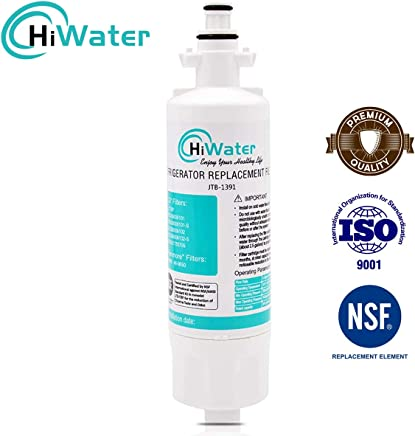 WLF-01 for 1 pack HiWater NSF 42 Certified LT700P Refrigerator Water Filter Compatible for LG LT700P ADQ36006101 package may vary ADQ36006102 KENMORE 469690 Water Sentinel WSL-3