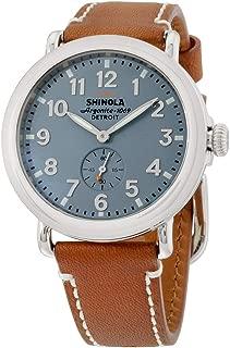 Shinola Detroit Unisex The Runwell 41mm - 10000024 Slate Blue/Brown