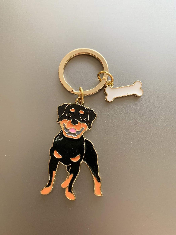 Dog Keychain Charms,Dog ID Tag Cute Keychain Car Key Chain Pet Key-ring Portable Metal Bag Key Decor for Gifts