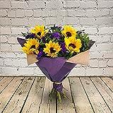 Lam Girasoles artificiales para plantas de verano, flores de jardín y ramos, muy adecuados para cumpleaños, aniversarios y regalos de agradecimiento