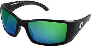 Costa Del Mar Blackfin Sunglasses - Black Frame - Green Mirror COSTA 580 Lens