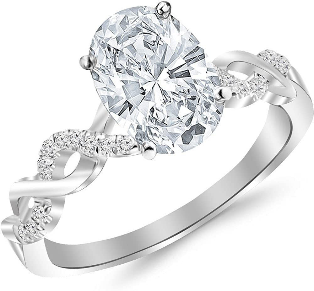 Max 64% OFF 1.63 Ctw 14K White Gold and Directly managed store Infinity Twisting Split Diamond