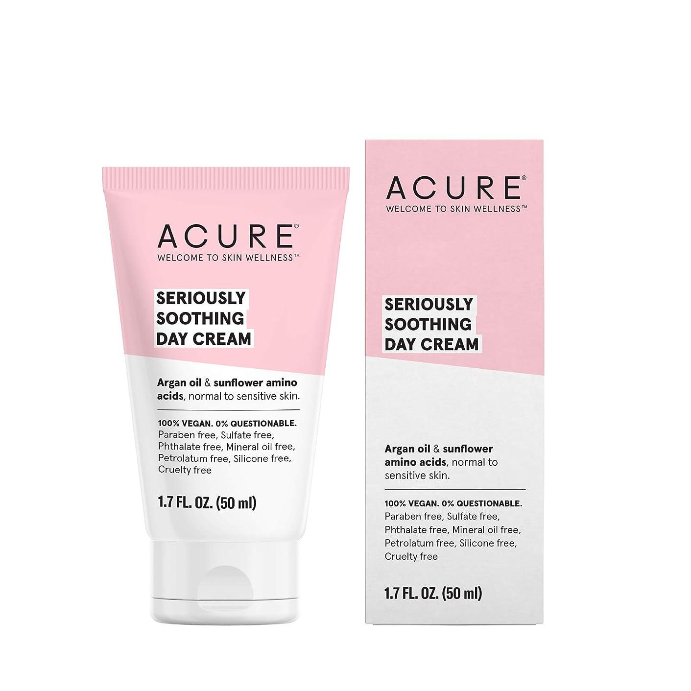 姿勢賞賛スケートAcure Organics, Sensitive Facial Cream, Argan Oil + Probiotic, Unscented, 1.75 oz (50 ml)