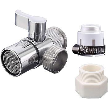 Bathroom Kitchen Basin Sink Faucet Splitter Diverter Valve to Hose Adapter M24 Faucet Diverter Valve