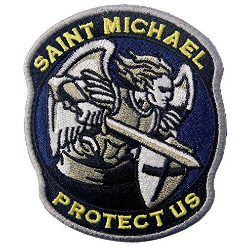 EmbTao Heiliger Michael Beschütze Uns Modernes Militär Moral Taktisch Flicken Bestickter Aufnäher mit Klettverschluss