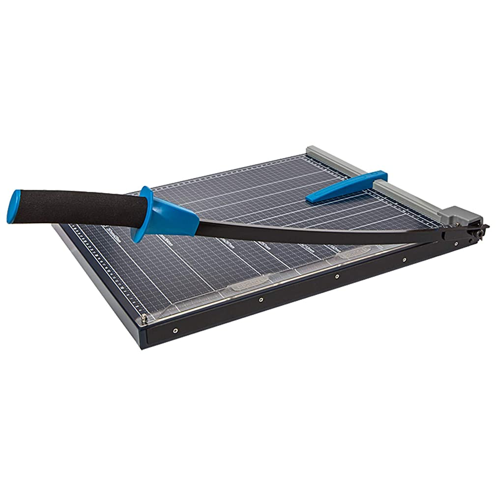 Genie GM A3?Paper Guillotine (Suitable for Sizes up to A3?10?Sheets Metal Work Surface for Materials Including Paper, Pictures, Craft Box) Black/Blue
