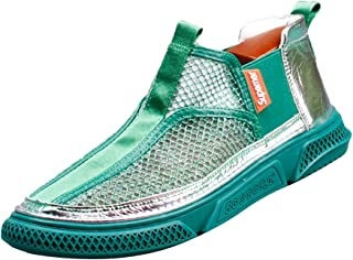 Men's Casual Athletic Sneakers Shoes Comfortable Sports Shoes Breathable Board Shoes Non-Slip Sports Shoes Leisure Espadrilles Outdoor Sandals Running Shoes,Green,41EU
