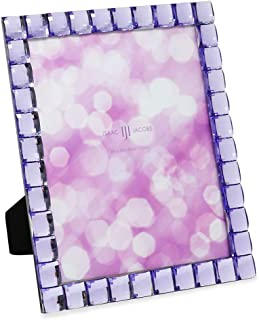 Isaac Jacobs Decorative Sparkling Light Purple Jewel Picture Frame, Photo Display & Home Décor (8x10, Light Purple)