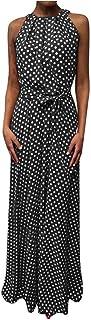 comprar comparacion VEMOW Faldas Mujer Vestido De Playa Sin Mangas con Estampado De Puntos De Verano Casual para Mujer Faldas