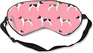 Rat Terrier Dog Pattern 4 100% Silk Sleep Mask Comfortable Non-Toxic, Odorless and Harmless,Soft Blindfold Eye Mask Good for Travel and Sleep