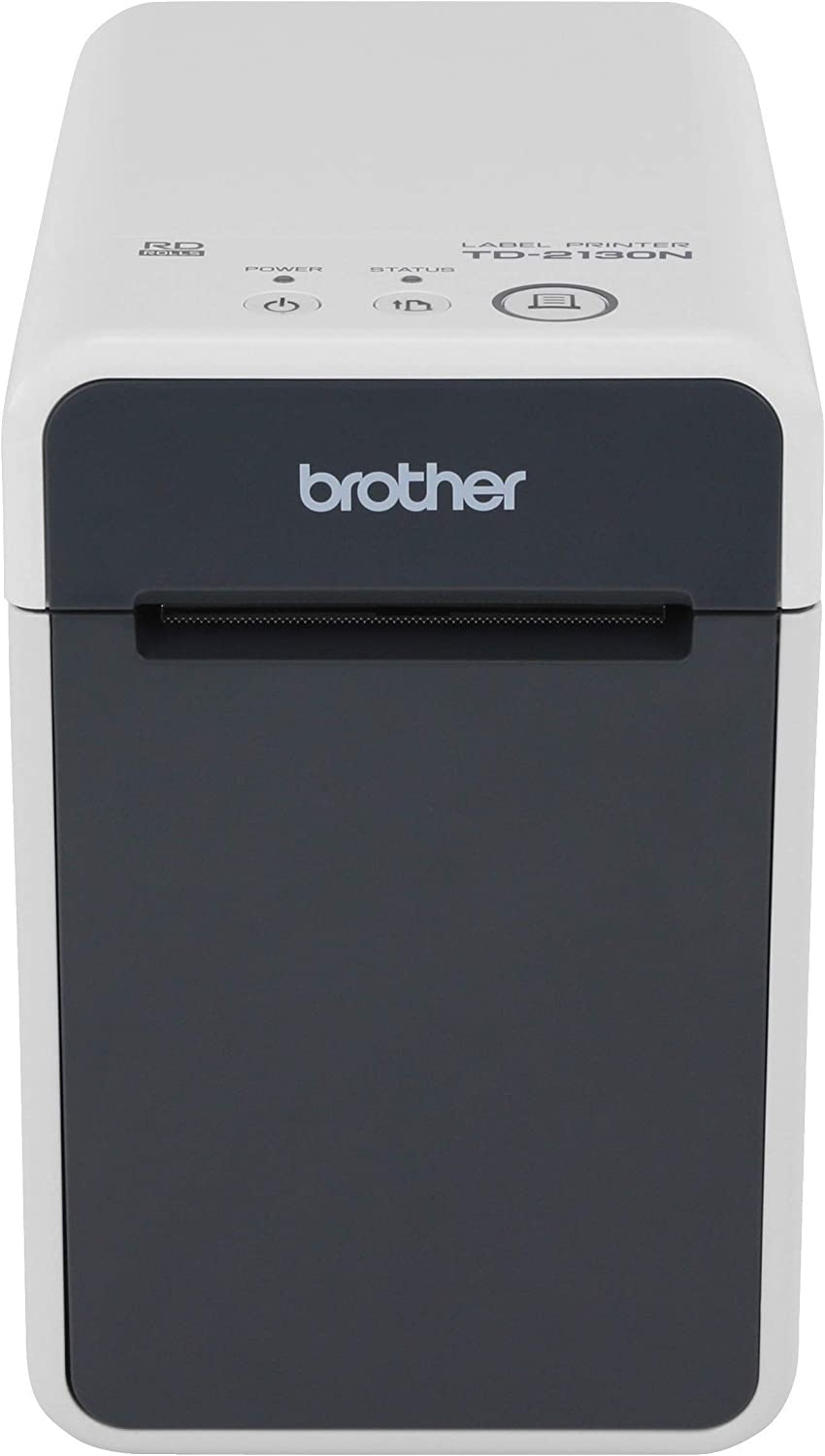 Brother TD2130N 2-inch Desktop Thermal Printer for Labels, Receipts & Tags, 300dpi, 6ips, USB/Serial/LAN, Optional Wi-Fi with AirPrint or Bluetooth