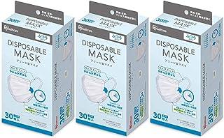 アイリスオーヤマ マスク ふつうサイズ 30枚 3個セット (90枚セット) 普通サイズ ふつう 普通 使い捨て ディスポーザブル 耳が痛くなりにくい やわらか丸耳ひも 20PN-30PM